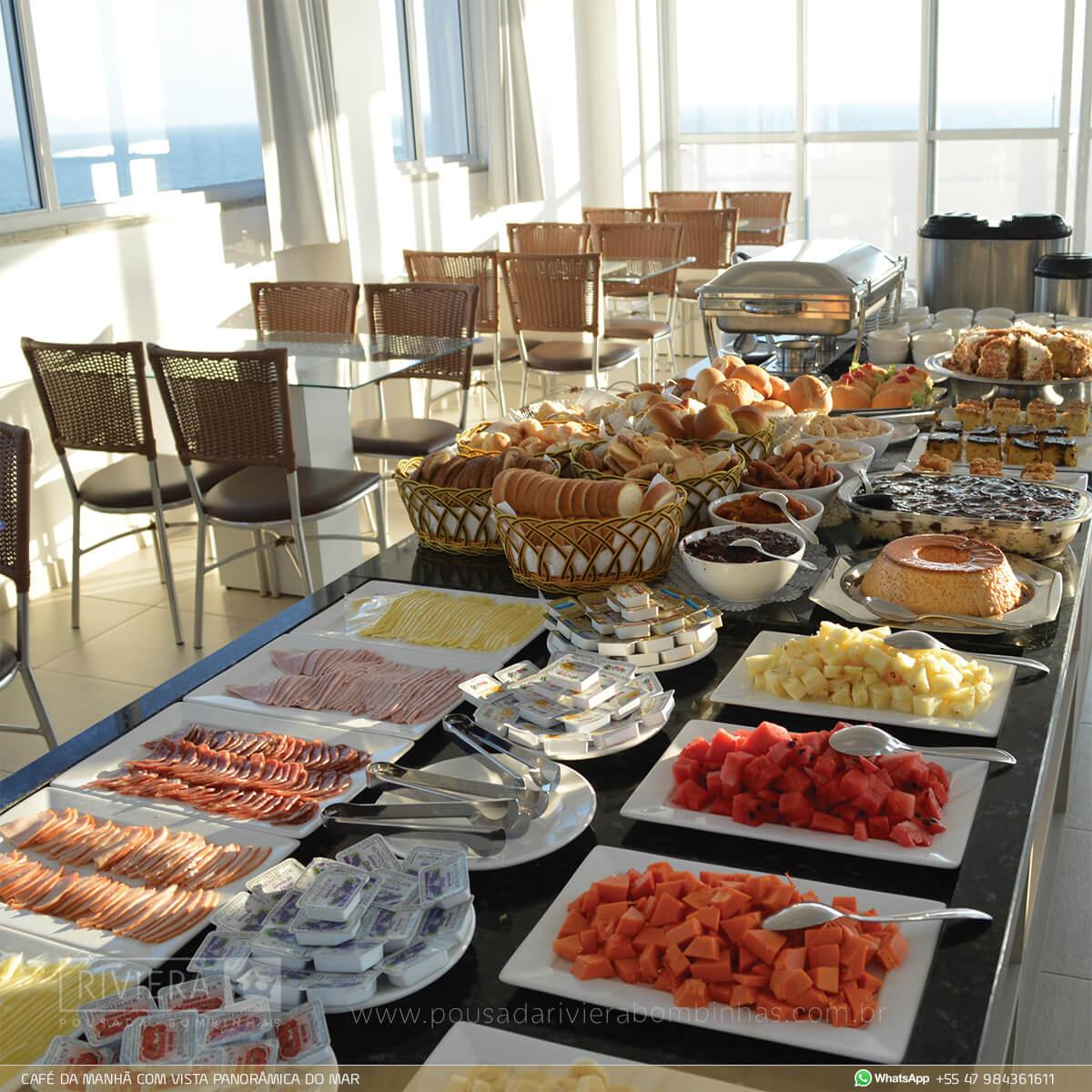 Café da Manhã em Pousada Riviera Bombinhas