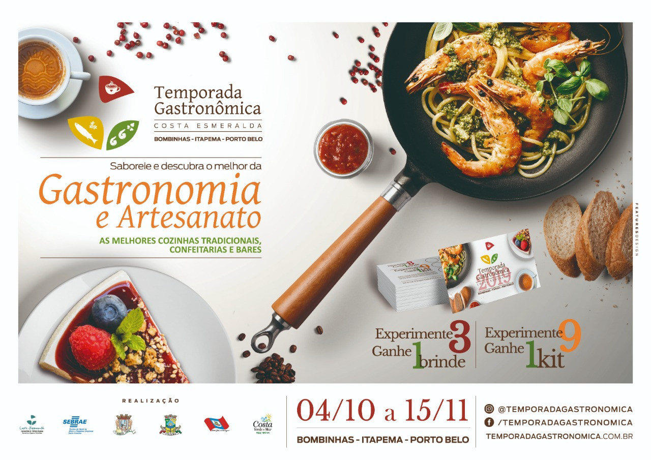 Iniciou-se a Temporada Gastronômica em Bombinhas, Porto Belo e Itapema